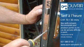 OUVRIR – le serrurier à Lausanne: les points à considérer avant de solliciter le service d'un serrurier